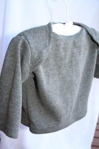grey soft rib cotton envelope-neck baby top