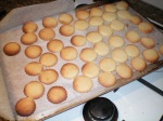 ...makes great biccies to sustain you while you wait for the tart to cook. Phew!